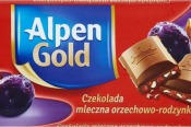 Čokoláda Alpen Gold orechovo-hrozienková 90g